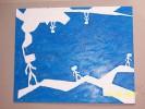 Wanderung, Malerei, Blau