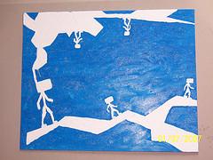 Malerei, Blau, Wanderung