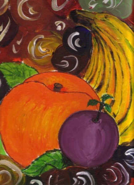 Malerei, Stillleben, Obst