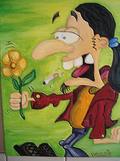 Acrylmalerei, Portrait, Stimmung, Malerei, Blumen, Pflanzen