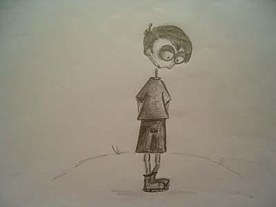 Bleistiftzeichnung, Kinder, Malerei, Traum, Skizze, Einsamkeit