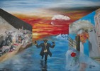 Gesellschaftskritik, Ölmalerei, Malerei, Figural
