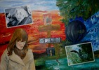 Surreal, Malerei, Drehung, Ölmalerei