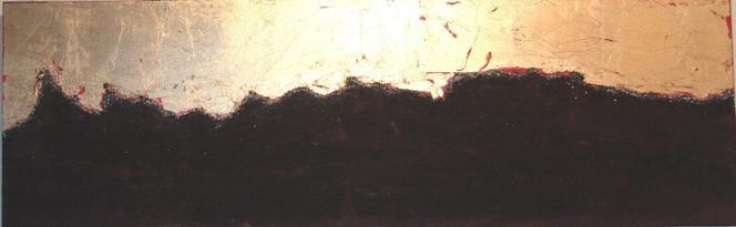 Malerei, Gold, Abstrakt, Erde