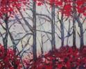 Acrylmalerei, Malerei, Landschaft, Rot