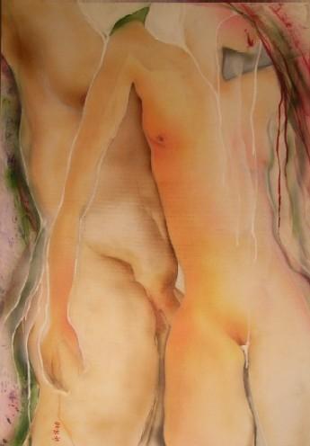 Mann, Akt, Frau, Malerei, Menschen, Lamm
