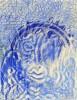 Zeichnung, Surreal, Blau, Zeichnungen