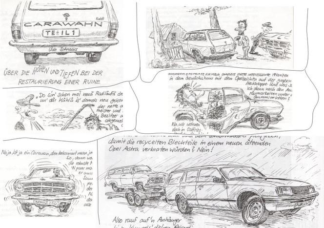 Illustration, Zeichnung, Cartoon, Karikatur, Auto, Comic