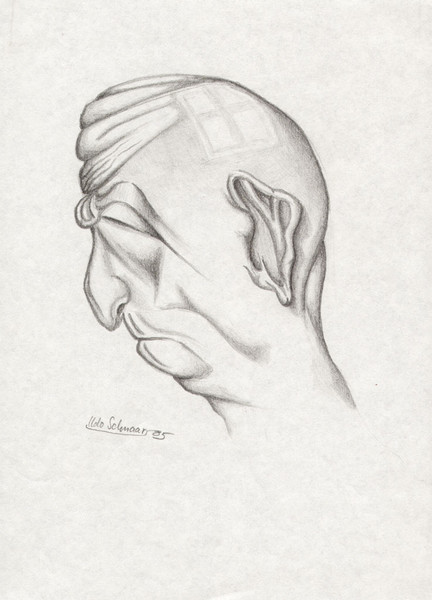 Bleistiftzeichnung, Zeichnung, Menschen, Portrait, Karikatur, Kopf