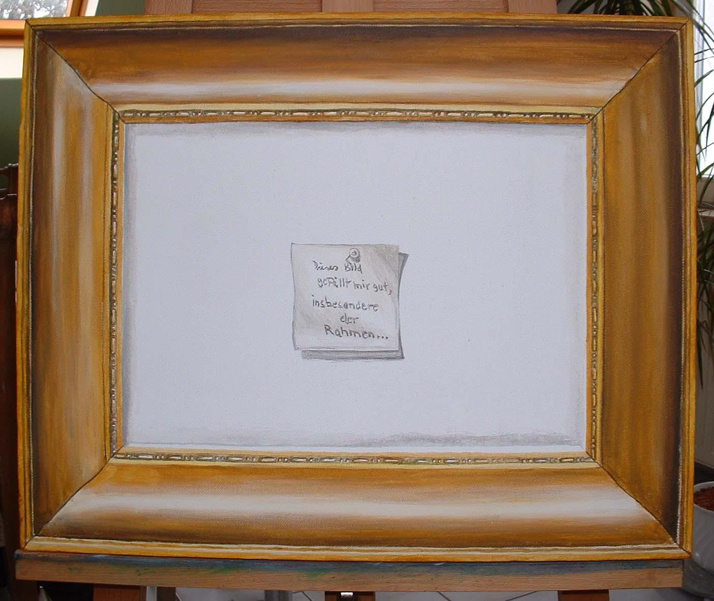 Gefälliger Rahmen: Tromploeil, Malerei, Bilderrahmen, Acrylmalerei ...