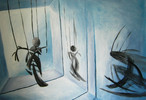 Marionette, Malerei, Surreal, Tanz