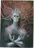 Malerei, Hexe, Tod