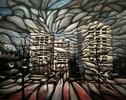 Malerei, Abstrakt, Stadtlandschaft