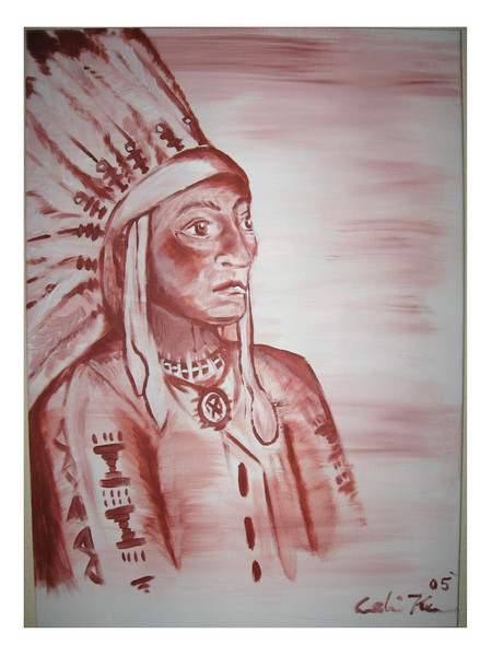 Malerei, Indianer, Figural,