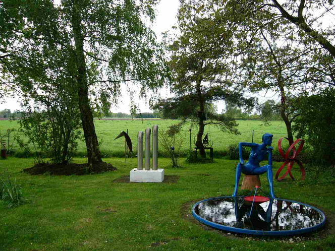 Garten, Plastiken, Plastik, Skulptur