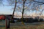 Winter, Garten, Raureif, Pinnwand