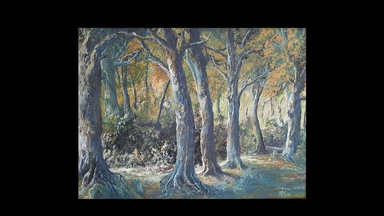 Wald, Licht, Sommer, Malerei