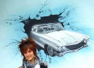Wangestaltung, Wandmalerei, Cadillac, Wandgestaltung