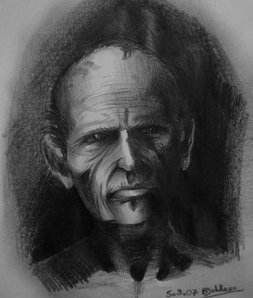 Menschen, Zeichnung, Bleistiftzeichnung, Mann, Portrait, Dunkel