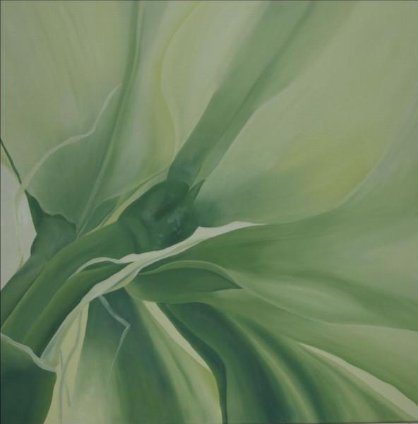 Modern, Grün, Garten, Botanik, Malerei, Amaryllis