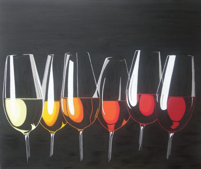Stillleben, Kontrast, Schwarz, Glas, Malerei