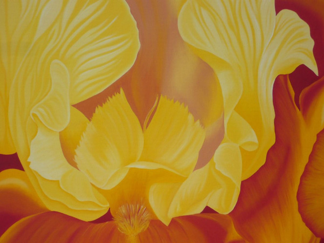 Pflanzen, Modern, Iris, Realismus, Malerei, Garten