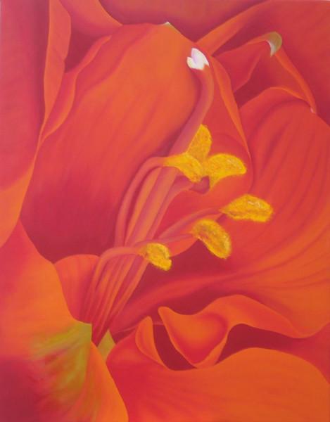 Blumen, Modern, Malerei, Amaryllis, Botanik, Natur