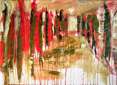 Gang, Licht, Bewegung, Malerei, Schatten, Tafel