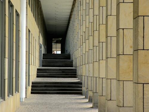 Fotografie, Säule, Gang, Frankfurt, Tiefe, Architektur