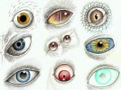 Zeichnung, Augen, Psychedelisch, Zeichnungen