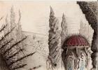 Gespenstisch, Psychedelisch, Nebel, Tempel