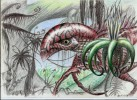 Alien, Scurril, Zeichnungen, Wesen