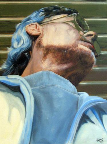 Menschen, Acrylmalerei, Malerei, Figural, Portrait, Selbstportrait