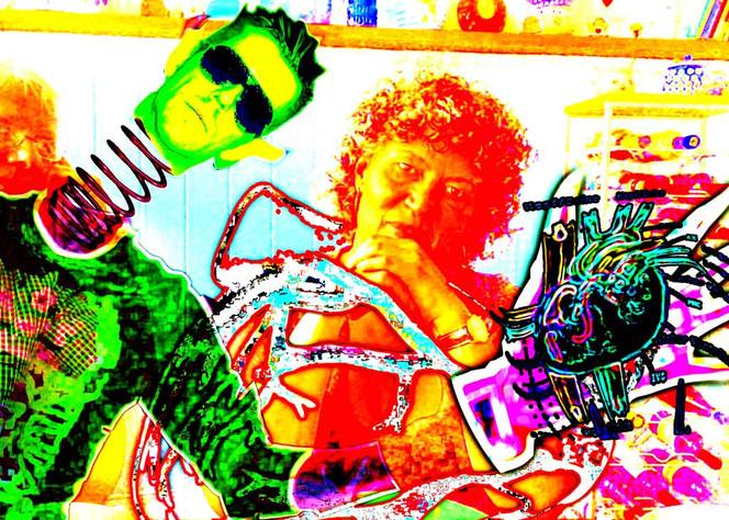 Neon, Digital, Herz, Abstrakt, Grafik, Hildesheim