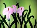 Blumen, Apfelgrün, Lilien, Malerei