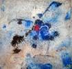 Marmormehl, Abstrakt, Pigmente, Spachteltechnik