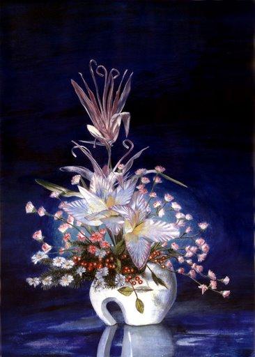 Stillleben, Malerei, Blumen