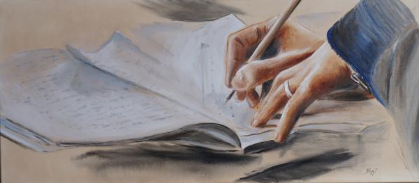 Tagebuch, Hände, Zeichnung, Malerei