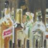 Flasche, Malerei, Stillleben, Hochprozentiges
