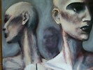 Malerei, Puppe, Schaufensterpuppe, Acrylmalerei