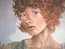 Malerei, Frau, Acrylmalerei, Portrait