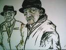 Acrylmalerei, Alt, Mann, Malerei