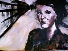 Malerei, Acrylmalerei, Braun, Frau