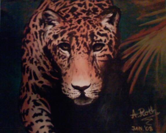 Leopard, Urwald, Malerei, Tiere