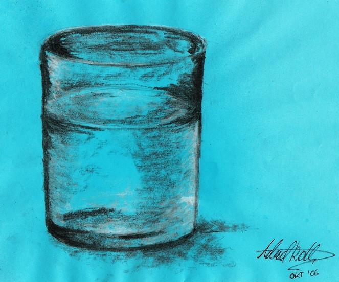 Glas, Zeichnungen, Stillleben