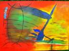 Segel, Wasser, Boot, Malerei