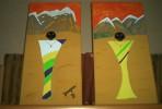 Malerei, Gouachemalerei, Afrika