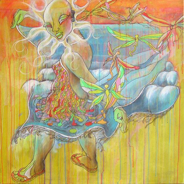 Libellule, Asiatisch, Deutschland, Layouter, Expressionismus, Malerei