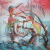 Eisvogel, Zeichnung, Berlin, Surreal