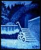 Blau, Ölmalerei, Landschaft, Winter